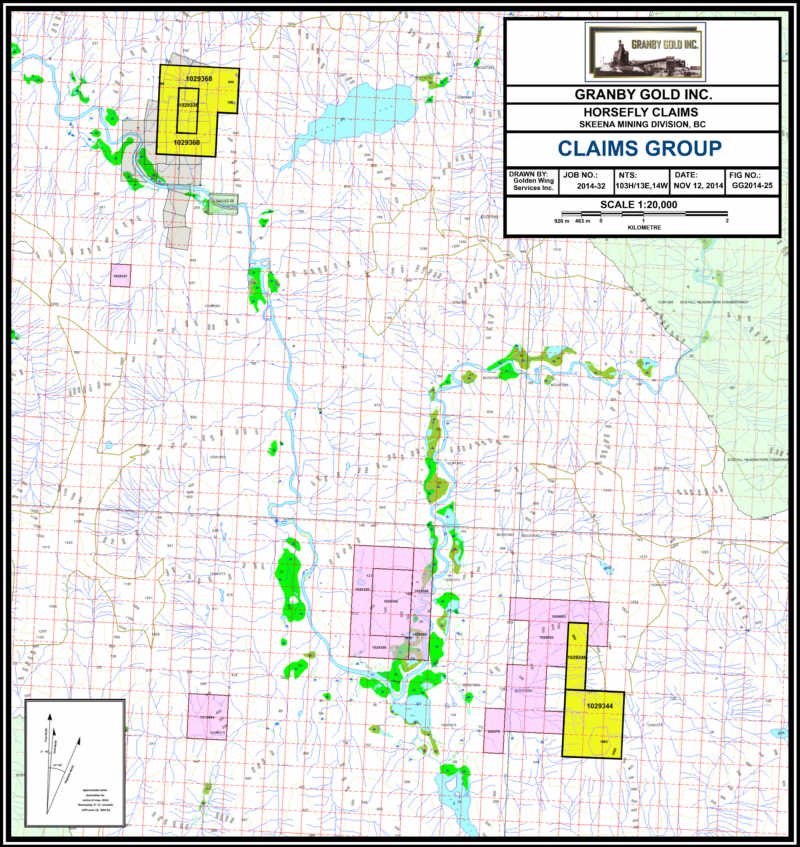 Granby Gold Inc  | Horsefly Claims, Kitimat Area